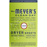 mrs meyers lemon verbena dryer sheets english label - EN