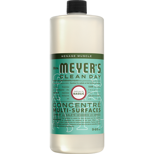 mrs meyers basil multi surface concentrate french label- FR