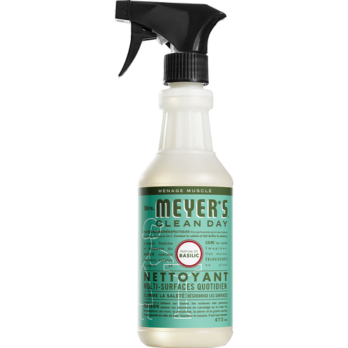 mrs meyers basil multi surface everyday cleaner french label - FR