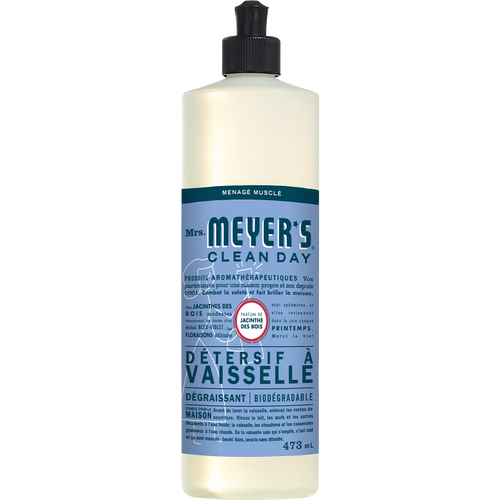 savon à vaisselle mrs meyers bluebell label français - FR