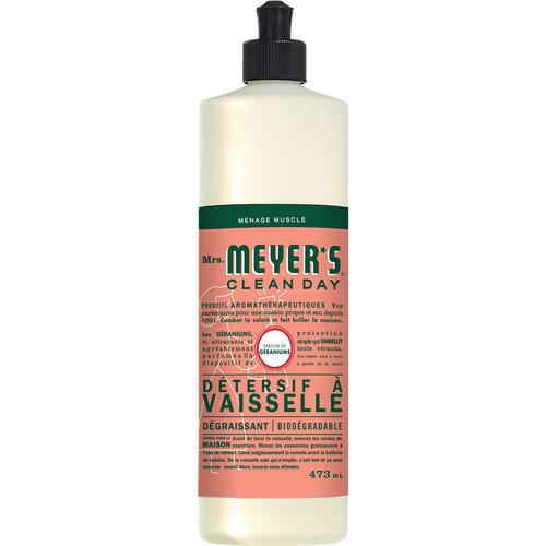mrs meyers geranium dish soap french label - FR