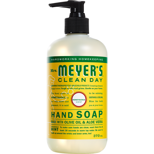 mrs meyers honeysuckle liquid hand soap english label - EN