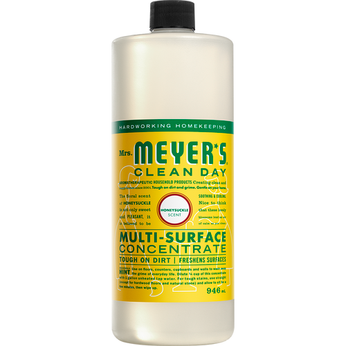 mrs meyers honeysuckle multi surface concentrate english label - EN