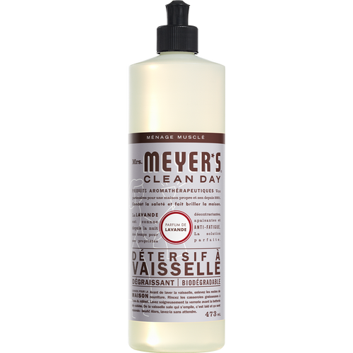mrs meyers lavender dish soap french label - FR
