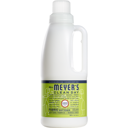 mrs meyers lemon verbena fabric softener english label - EN