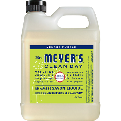 mrs meyers lemon verbena liquid hand soap refill french label - FR