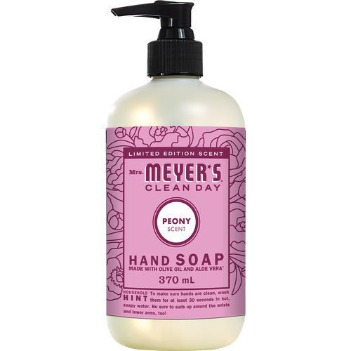 mrs meyers peony liquid hand soap english label - EN