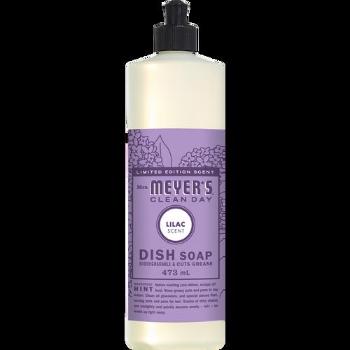 étiquette français détersif à vaisselle au parfum de lilas mrs meyers - FR