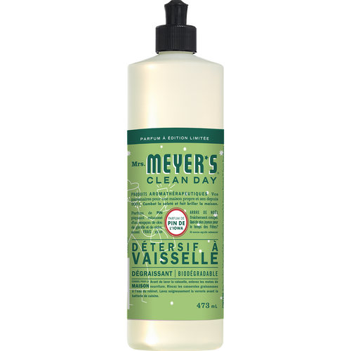 mrs meyers iowa pine dish soap french label - FR