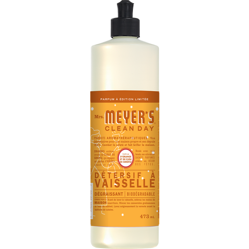 mrs meyers orange clove dish soap french label - FR