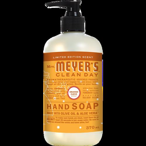 mrs meyers orange clove liquid hand soap english label - EN