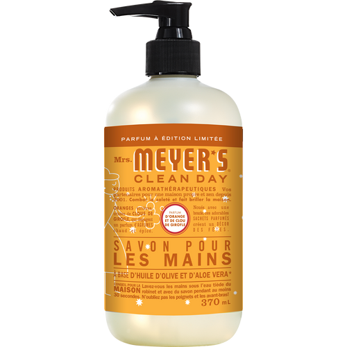 mrs meyers orange clove liquid hand soap french label - FR