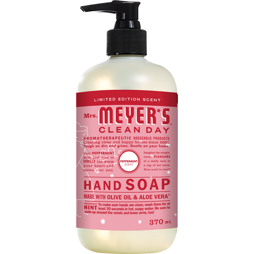 mrs meyers peppermint liquid hand soap english label - EN
