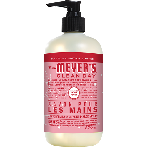 mrs meyers peppermint liquid hand soap french label - FR