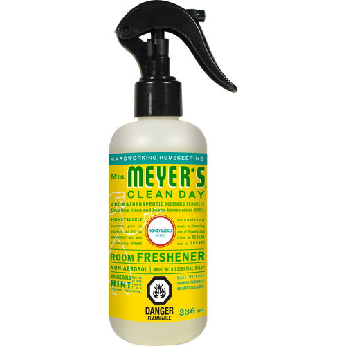 mrs meyers honeysuckle room freshener english label - EN