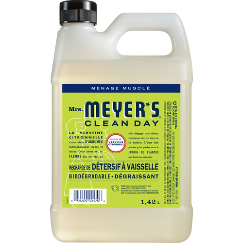 mrs meyers lemon verbena dish soap refill french label - FR