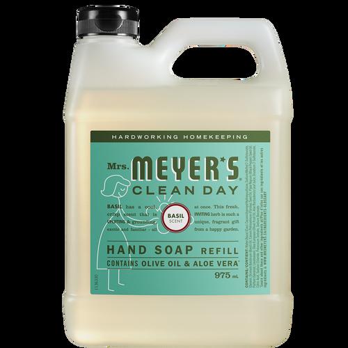 Recharge Savon liquide pour les mains au parfum de basilic Mrs. Meyer's - FR