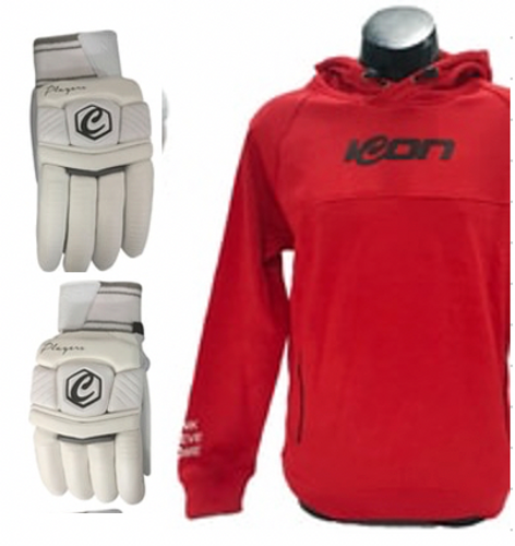 Players Sheep Palm Batting Gloves and Hoodie Bundle