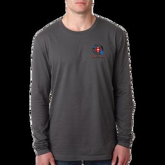 Next Level Men's Cotton Long-Sleeve Crew Heavy Metal Full Color Logo