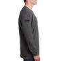 Next Level Men's Cotton Long-Sleeve Crew Heavy Metal B/W Logo