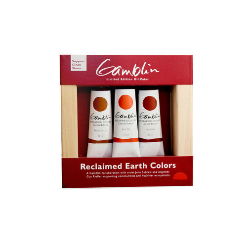 reclaimed earth colors, pigments, John Sabraw, Ohio University, clean water, recycling, earth day, gamblin