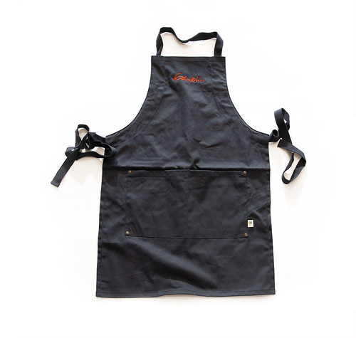 Gamblin embroidered navy blue painter's apron