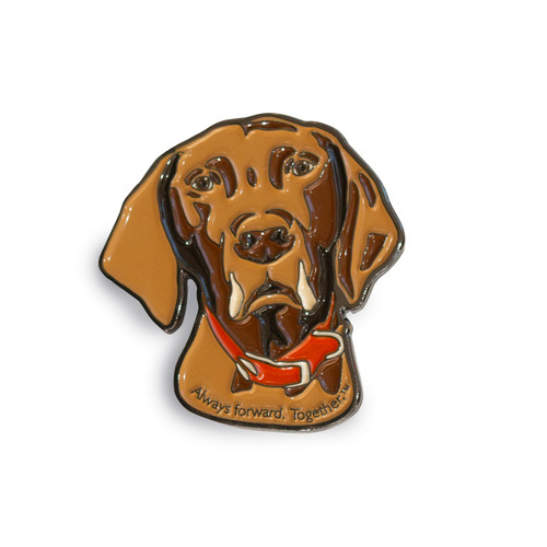 bourbon, enamel pin, gamblin, dog, always forward, together