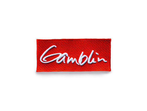 Gamblin signature logo red embroidered patch