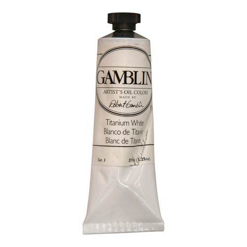 Gamblin imperfect 37ml tube, oil paint, artist grade, Titanium White