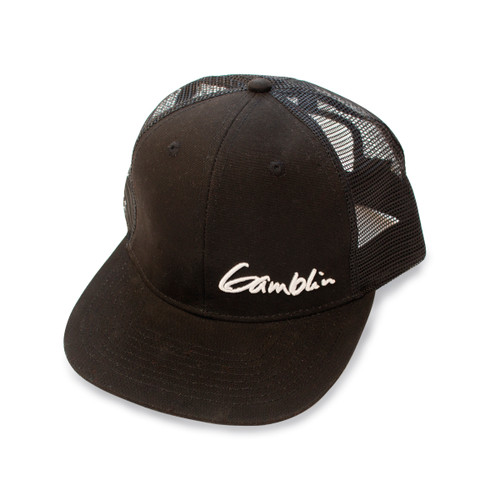 Gamblin black hat meshback trucker cap, snap back, one size fits all