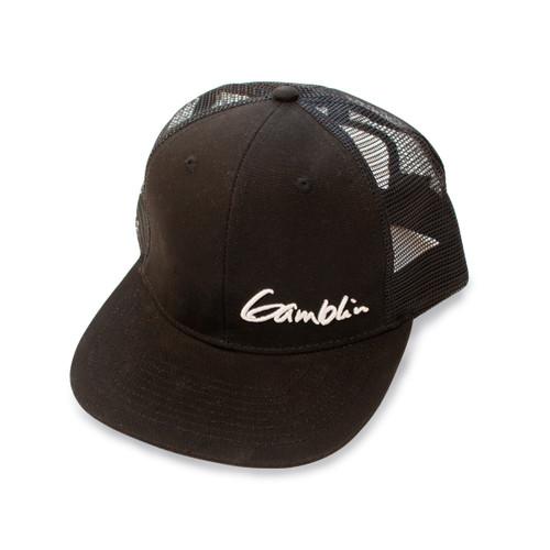 Gamblin black hat meshback trucker cap, snap back, one size fits all