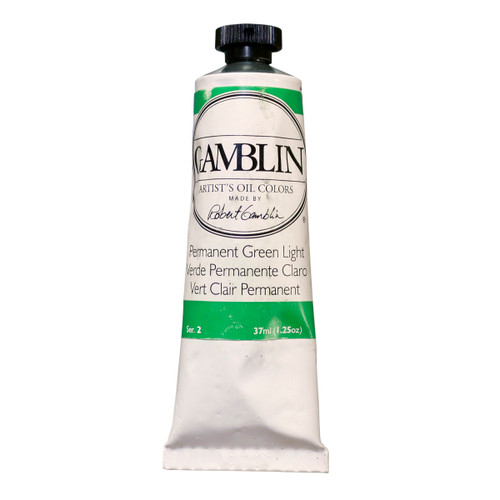 Gamblin Artist Grade Permanent Green Light 37ml imperfect tube