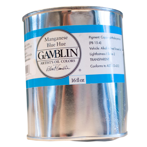 Gamblin imperfect can, artist grade, discounted oil paint
