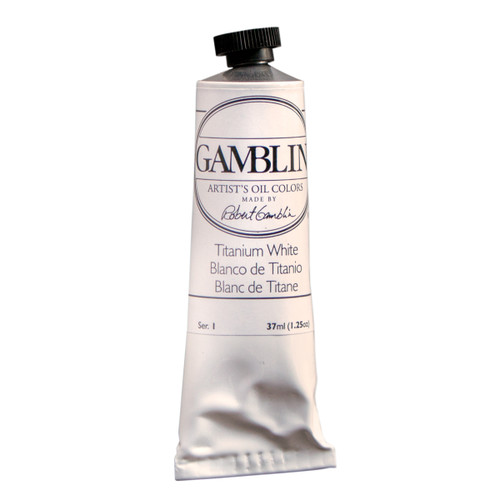 Gamblin Artist Grade Titanium White, dented tube, imperfect, discounted, 37ml, Gamblin Factory Store