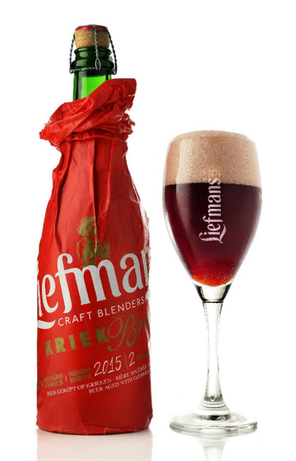 Liefmans Kriek Brut has a deep, complex flavour, and opulently sweet, with fresh notes and a strong accent of black cherries. Every hectolitre contains up to 13 kilos of fruit! The sour and sweet tastes are perfectly balanced with the cherries.