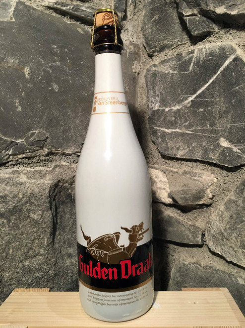 Gulden Draak Dark Tripel. It has fruity (apple and cherry) and zesty aromas. Caramel, toffee, roast malt and coffee flavours precede a long, bitter-sweet finish.
