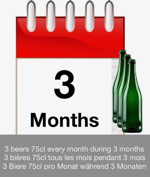 Subscription of 3 months: discover 3 beers each month during 3 months.