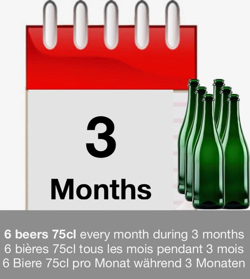 Subscription 3 months: discover 6 beers each month during 3 months.