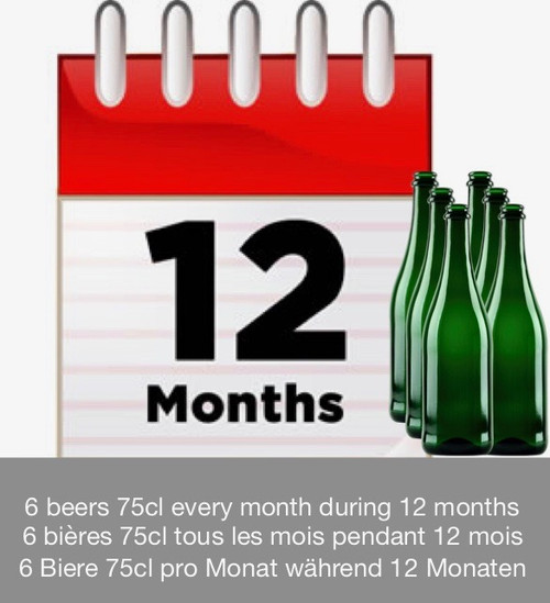 Subscription 12 months: discover 6 beers each month during 12 months.
