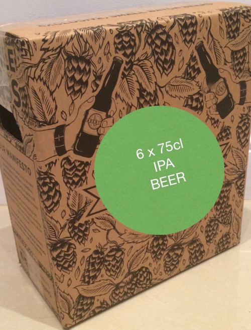 The IPA box contains 6 x IPA bottles of 75cl