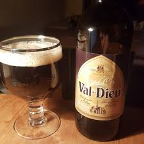 Val Dieu Grand Cru with glass