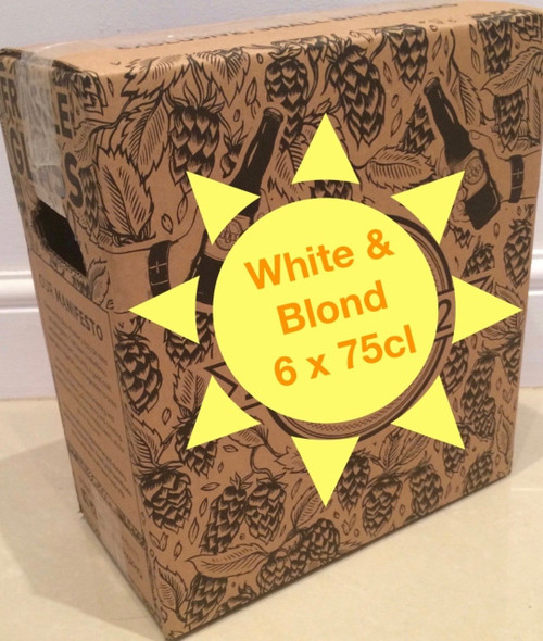 Summer beer box including 6 x 75cl white or blond premium craft beers