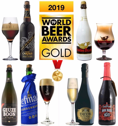 The 2019 awards beer 6 x 75cl tasting box contains 6 different premium beers in 75cl who got the Gold Medal in 2019 from the World Beer Awards competition.