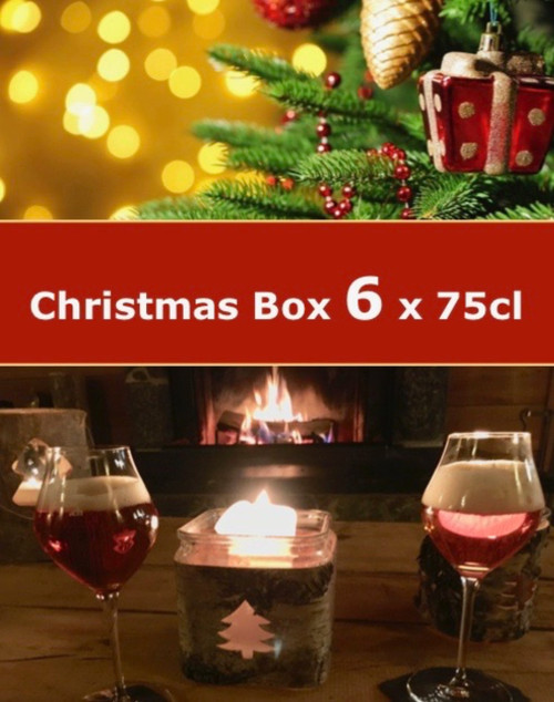 The Christmas beer box 6 x 75cl container 6 premium craft beers in 75 cl bottles that are wonderful to drink during Christmas time.