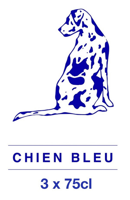 The Chien Bleu box contains 3 x 75cl beers from Chien Bleu brewery