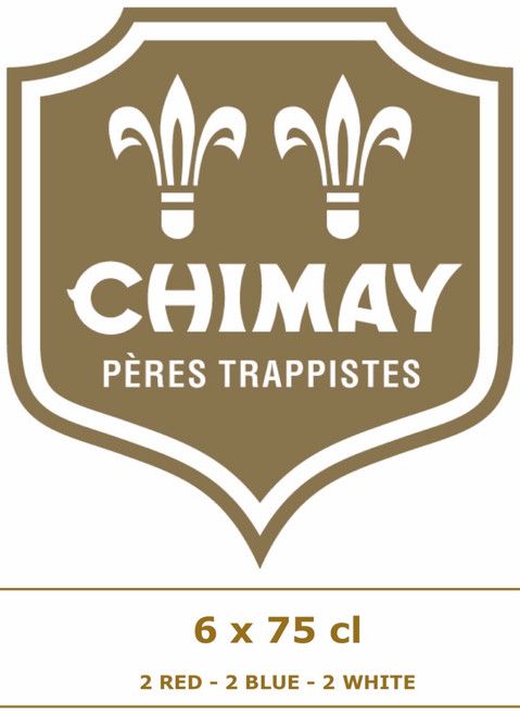 The Chimay box 6 x 75 cl contains 6 Chimay beers: 2 Grande Réserve, 2 Première and 2 Cinq Cents.