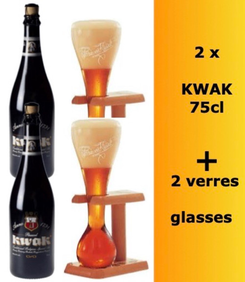 The KWAK box contains 2 KWAK bottles in 75cl and 2 KWAK glasses of 37.5cl