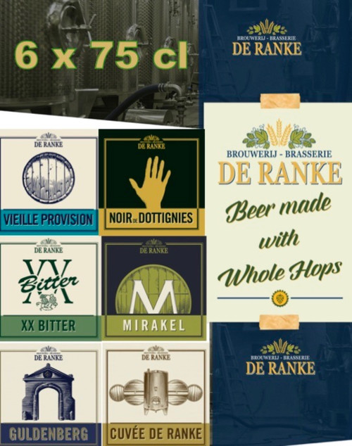 De ranke box 6 x 75 cl contains 6 bottles of 75cl from the brewery De Ranke