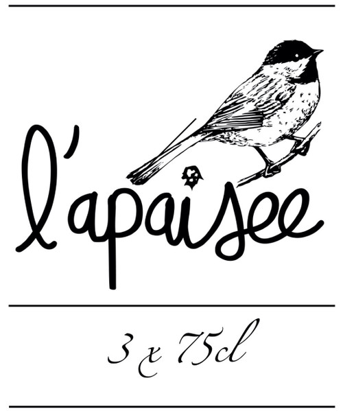 L'Apaisée Box 3 x 75cl contains 3 different bottles of 75cl from the brewery L'Apaisée