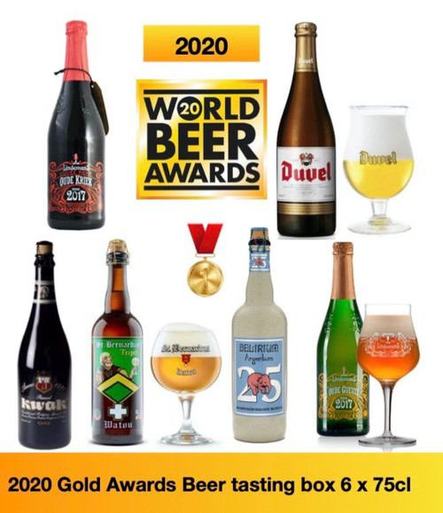 2020 Gold Awards Beer tasting Box containing 6 beers in 75cl having got the Gold Medal in 2020